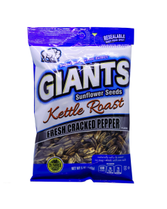 Giants Sunflower Seeds Kettle Roast Fresh Cracked Pepper - MHD DEZEMBER 2020!